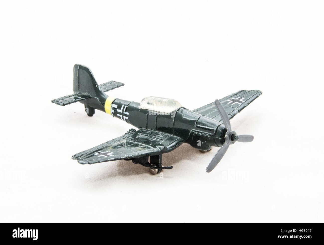 Dusty German World War II Toy Plane - Stock Image