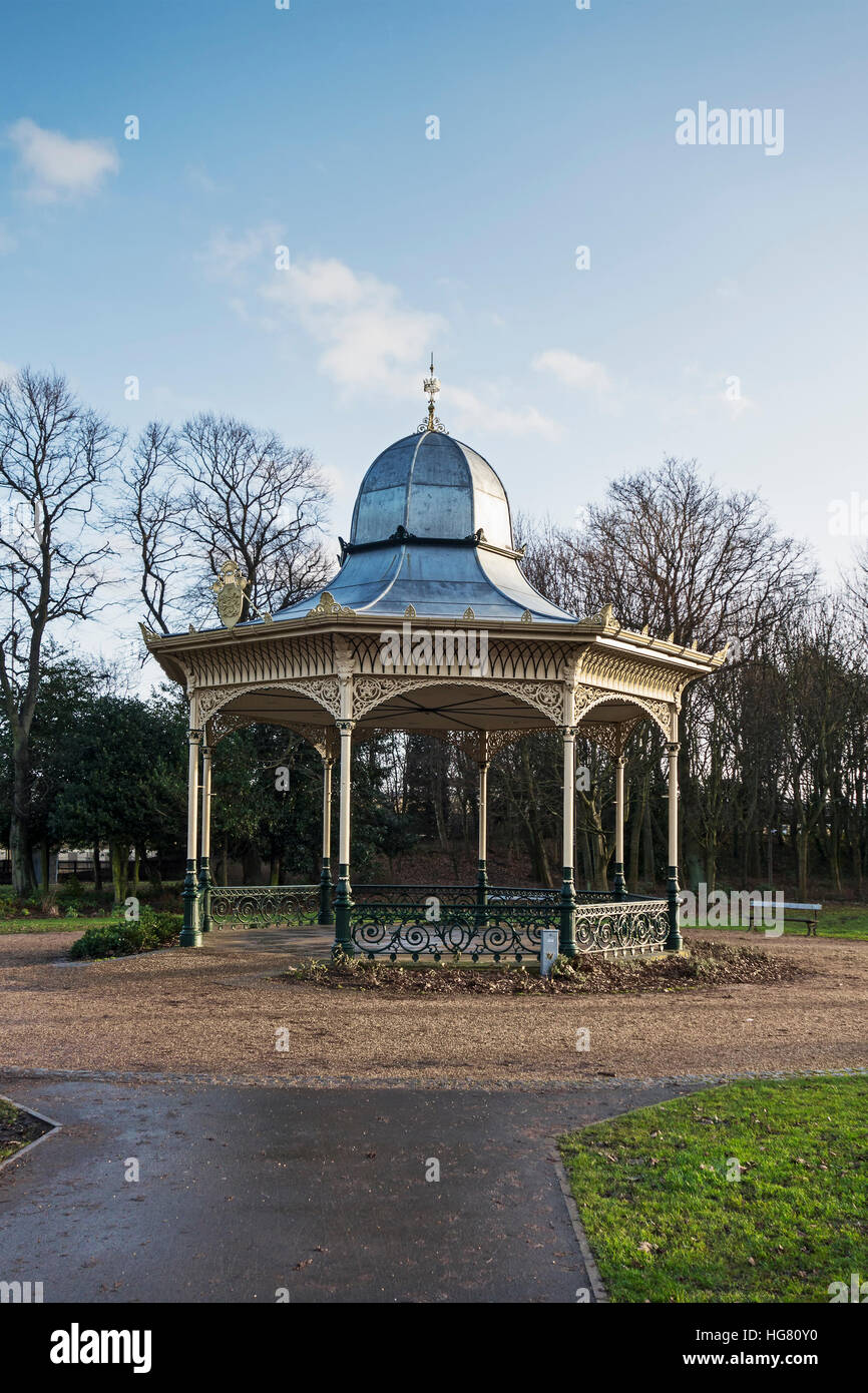 Bandstand in Exhibition Park, Newcastle upon Tyne, UK - Stock Image
