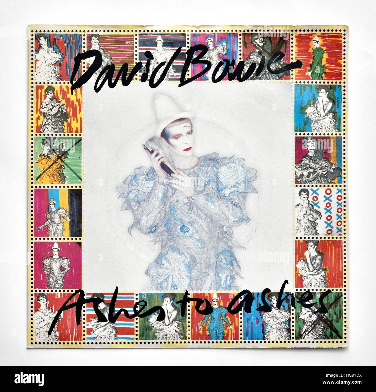 David Bowie Ashes to Ashes single cover Stock Photo: 130483862 - Alamy