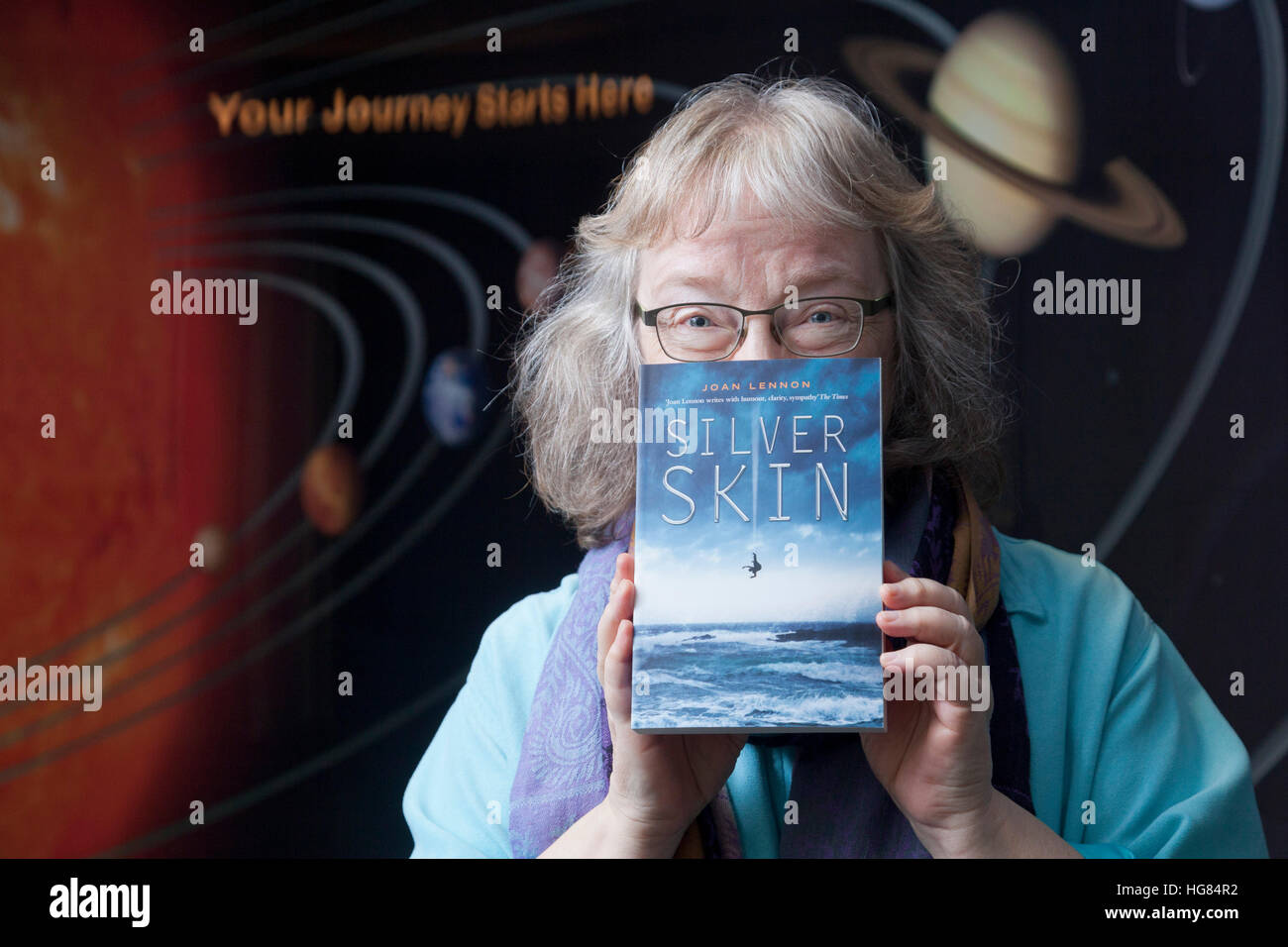Joan Lennon, children's and young adult sci-fi and fantasy author. Stock Photo