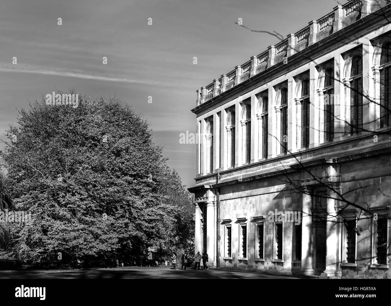 Wren library at Trinity college, university of Cambridge, England. - Stock Image