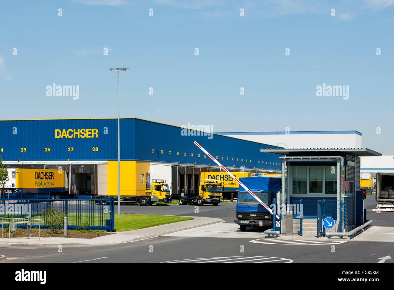 Deutschland, NRW, Städteregion Aachen, Alsdorf-Schaufenberg, Logistik-Unternehmen Dachser - Stock Image