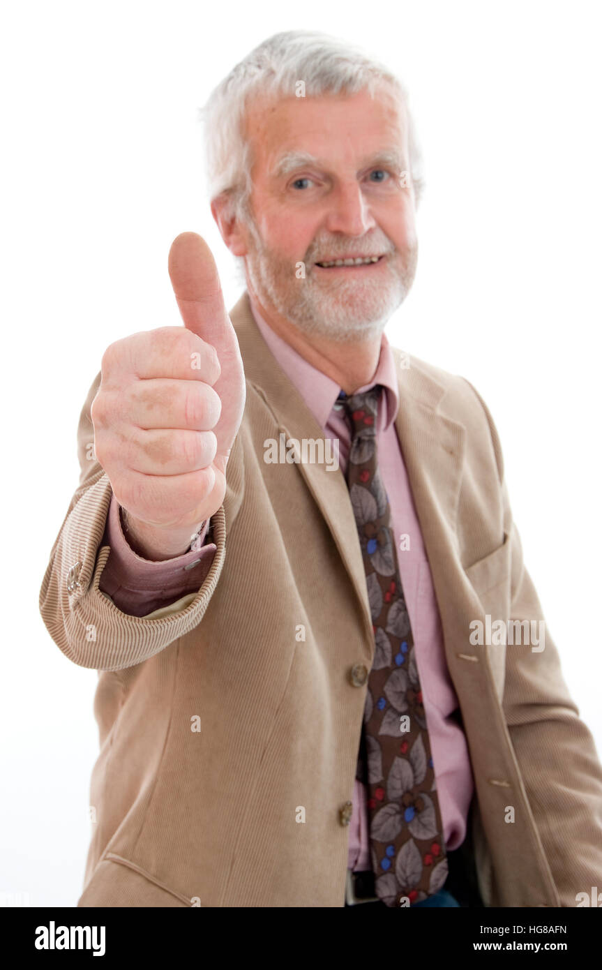 Older, successfully businessman - Stock Image