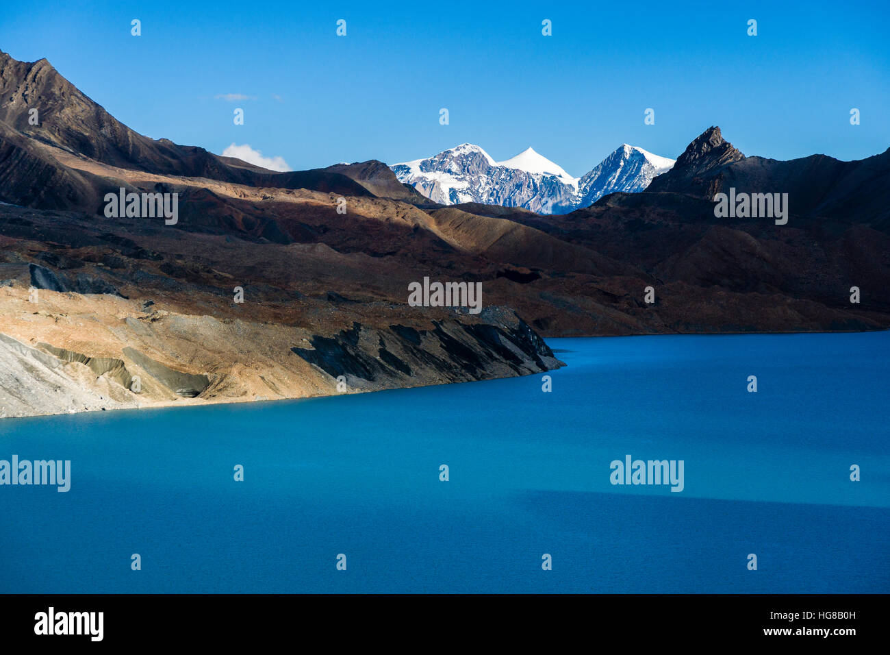 Tilicho Lake, Manang District, Annapurna region, Nepal - Stock Image
