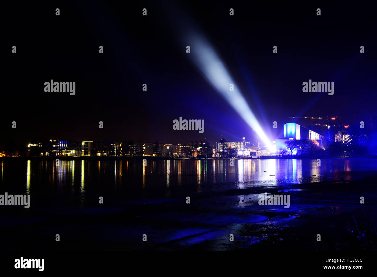 view of the New Year's Eve in Helsinki, December 31, 2016 - Stock Image