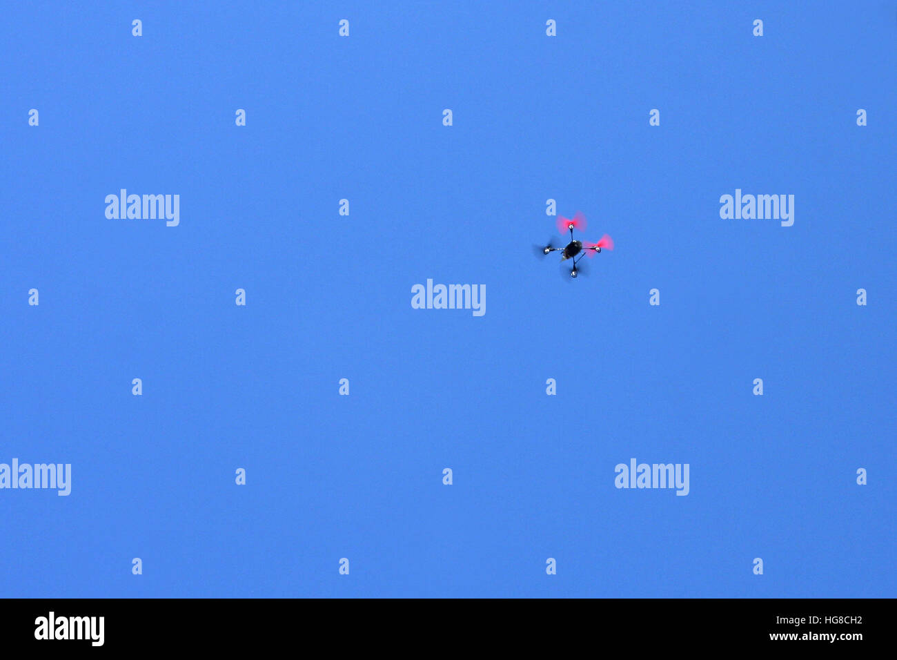 Drone in flight - Stock Image