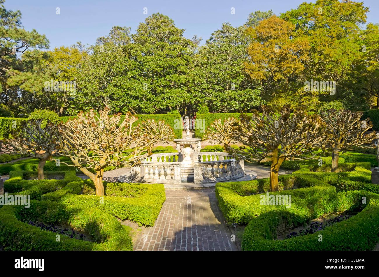 Elizabethan Gardens Manteo Roanoke Island North Carolina - Stock Image