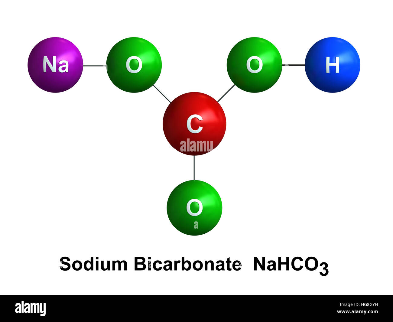 3d Render Of Molecular Structure Of Sodium Bicarbonate Isolated Over Stock Photo  130496005