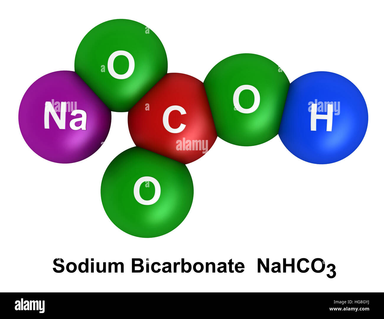 3d Render Of Molecular Structure Of Sodium Bicarbonate Isolated Over Stock Photo  130496006