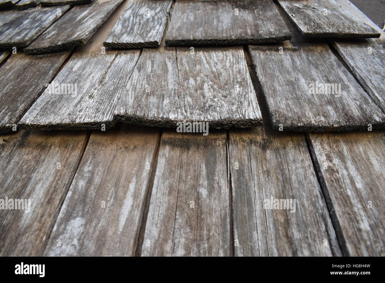 Wooden Roof Tiles Weathered Stock Photo 130496153 Alamy