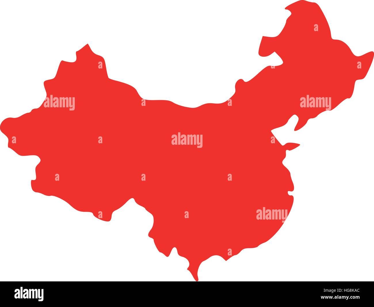 China map - Stock Image