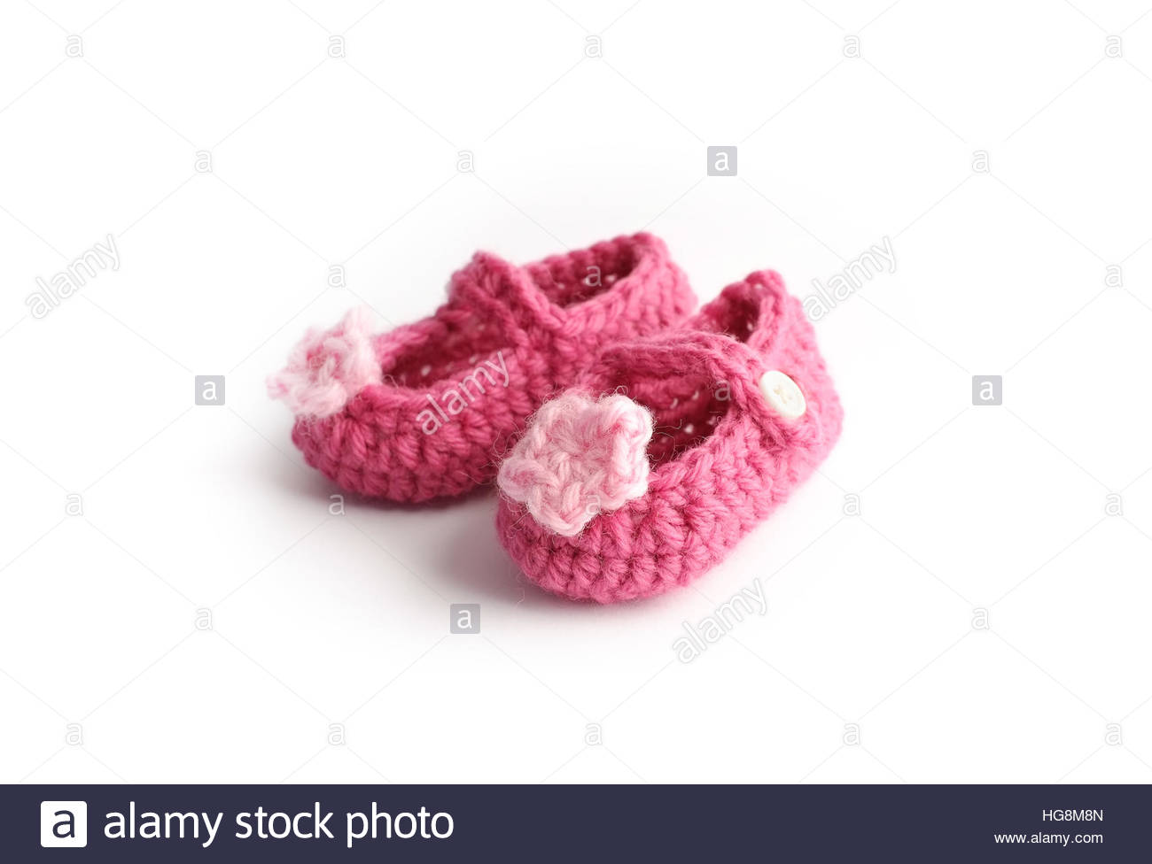Lovely Handmade Cute Baby Red Shoes With Pink Flower Made By Wool