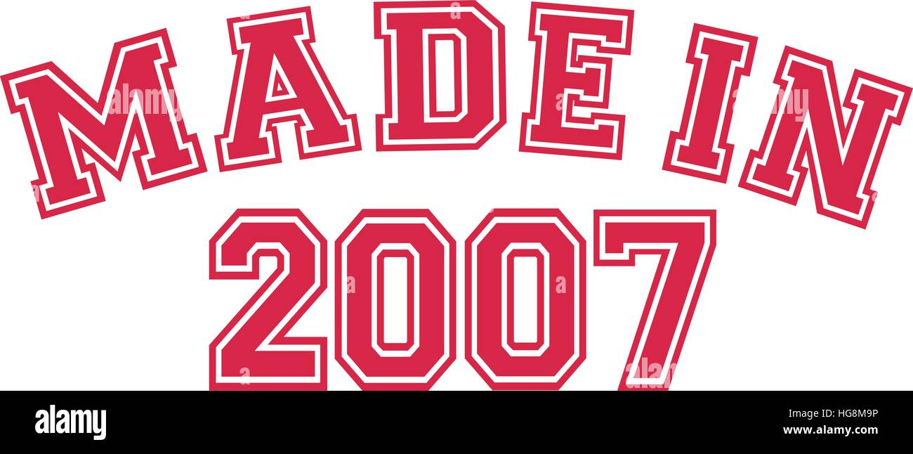 Made in 2007 - Stock Vector
