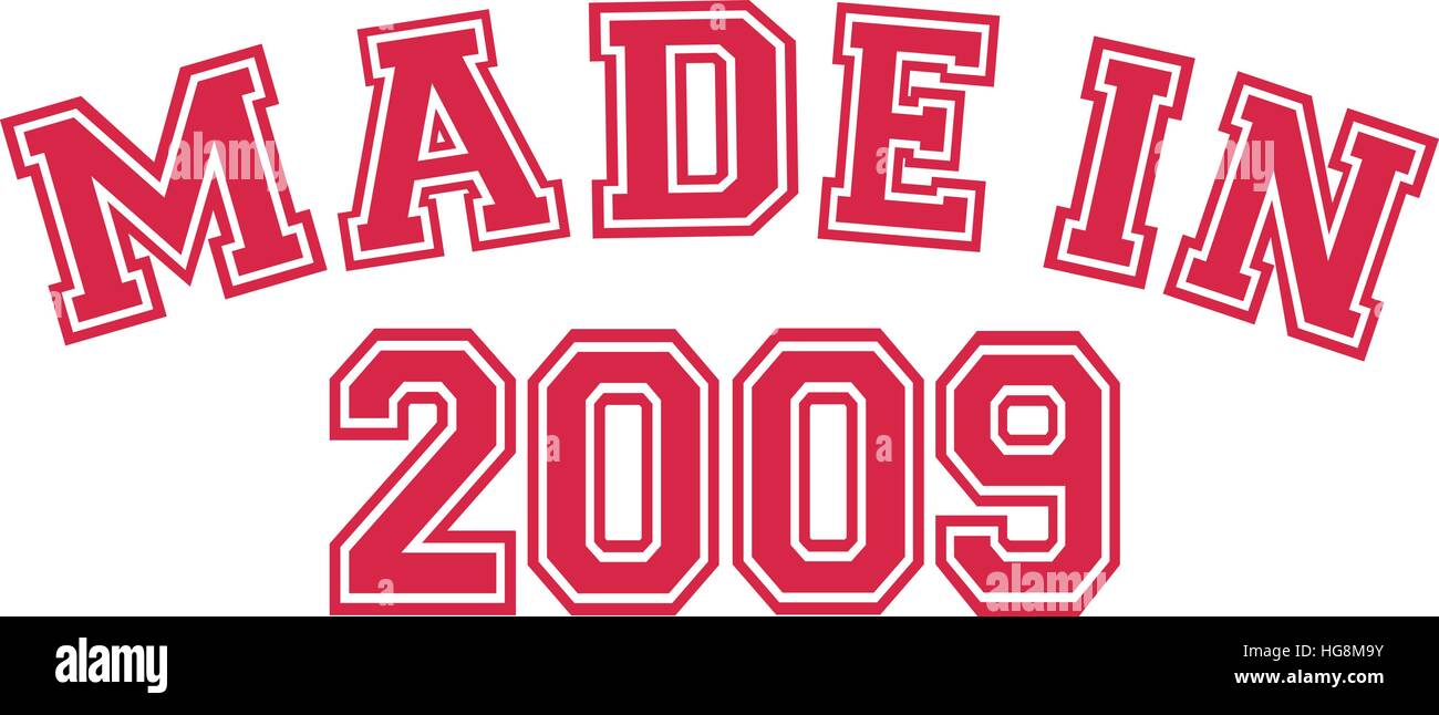 Made in 2009 - Stock Vector