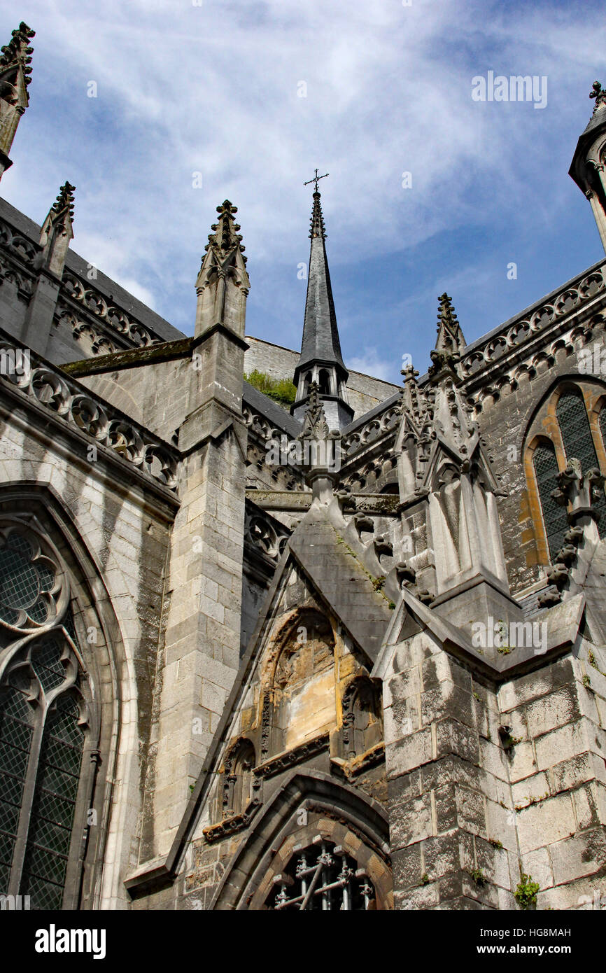 Cathedral of Our Lady, Dinant, Belgium, 13th-century Gothic cathedral Stock Photo