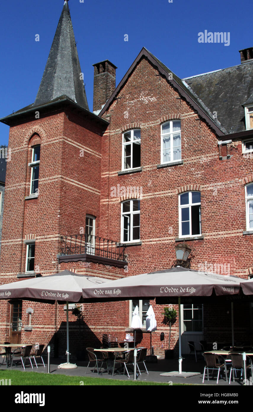 Maison Leffe in Dinant Belgium is located in an old convent and offers a museum and a tasting room for Leffe beer. Stock Photo