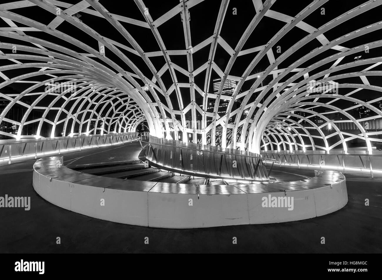 Webb Bridge shot in B&W with high contrast - Stock Image