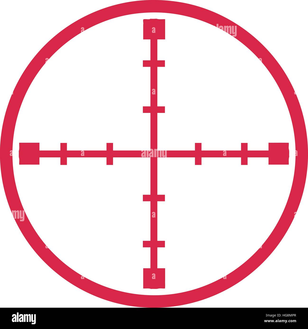 sniper target crosshair stock vector art illustration vector rh alamy com crosshair vector logo crosshair vector free