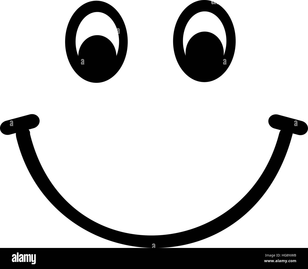 Smiley face black and white
