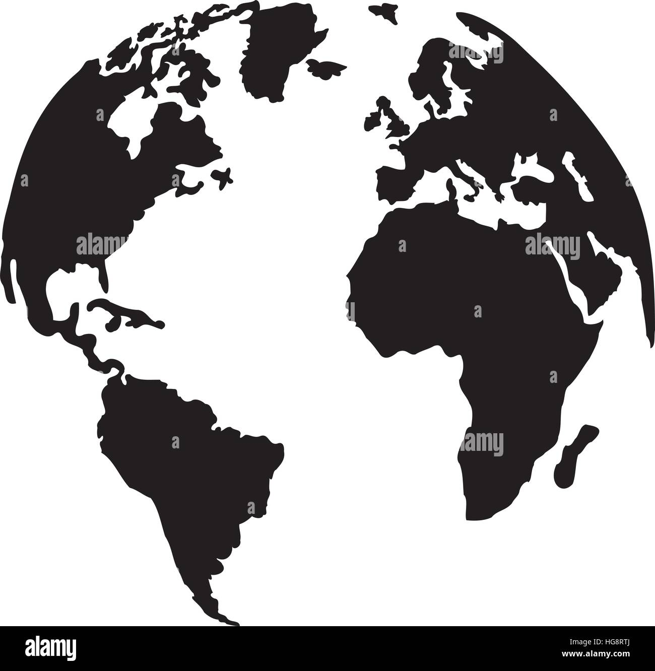 Globe planet earth with silhouette of the continents stock vector globe planet earth with silhouette of the continents gumiabroncs Images