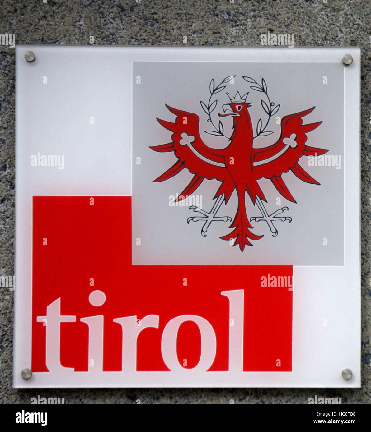 Logo: Tirol, Oesterreich. - Stock Image