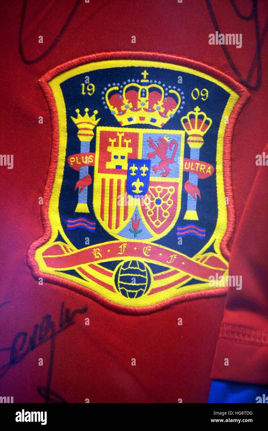 das Logo des FC Barcelona. - Stock Image