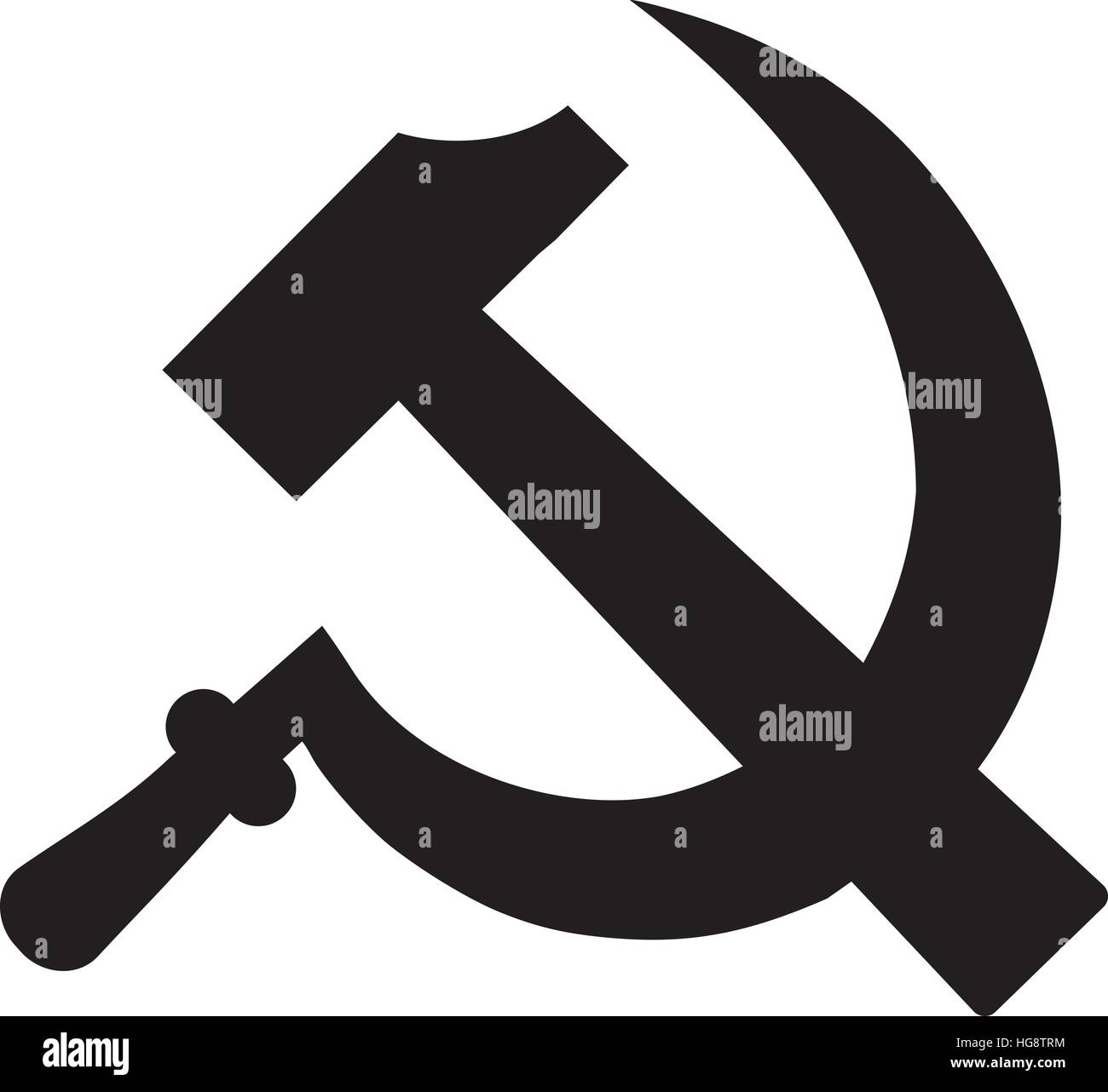 Hammer and sickle - communism sign - Stock Image