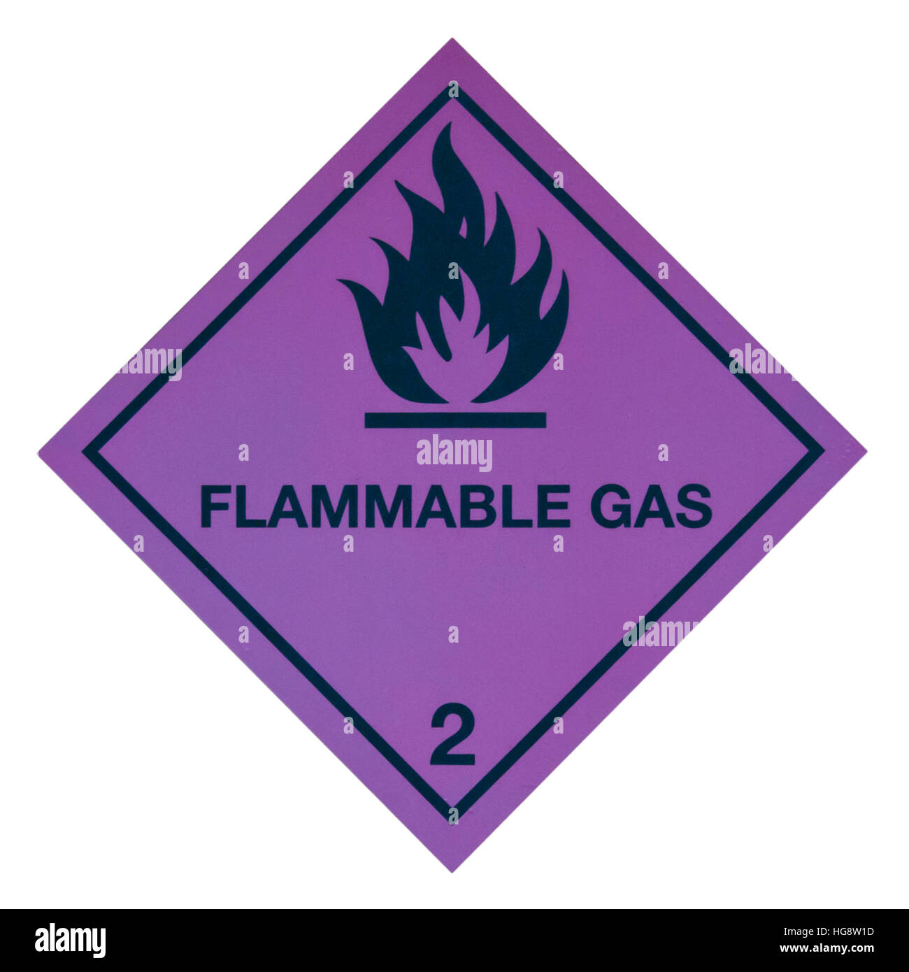 Flammable Gas Sign - Stock Image