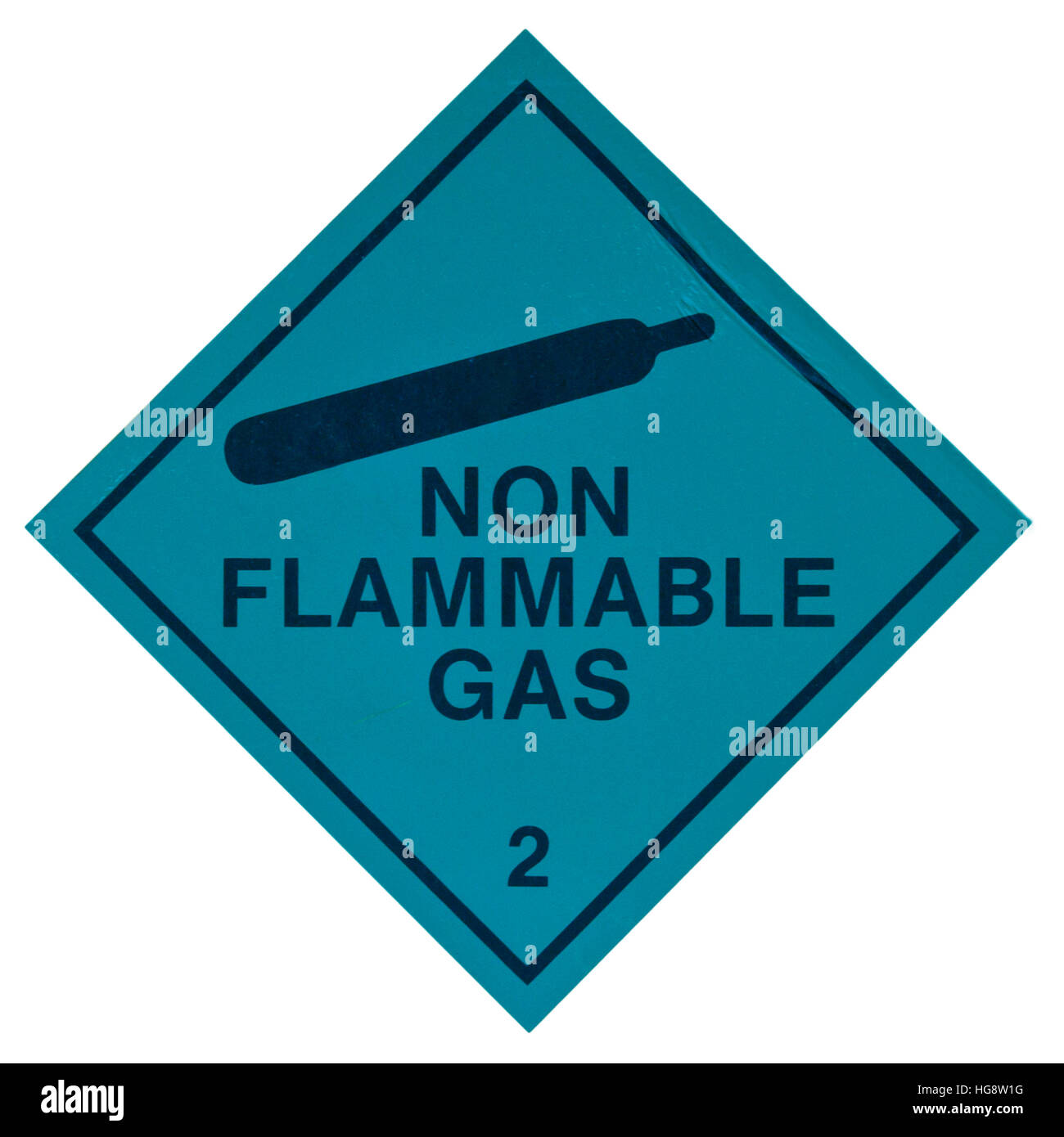 Non Flammable Gas Sign - Stock Image
