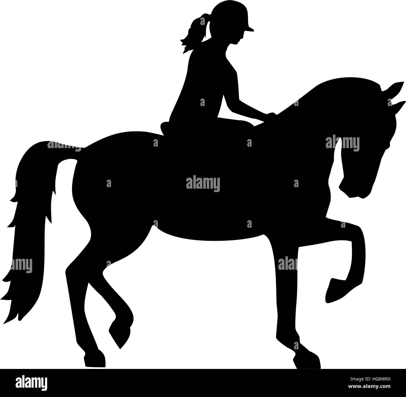 Riding Horse Stock Vector Images