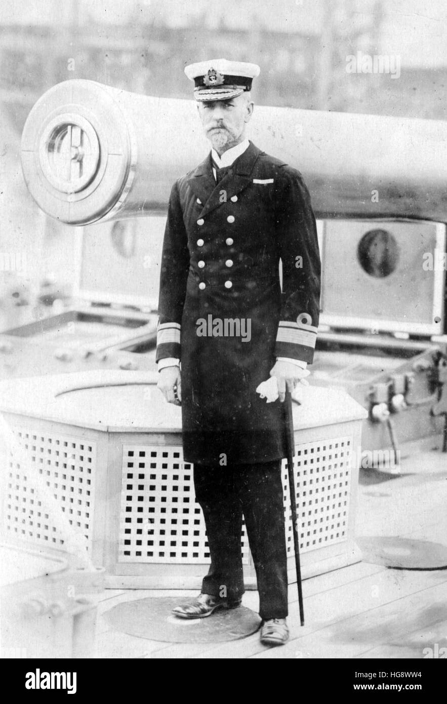 Royal Navy. C.H.Adair HMS Drake Rear Admiral - Stock Image