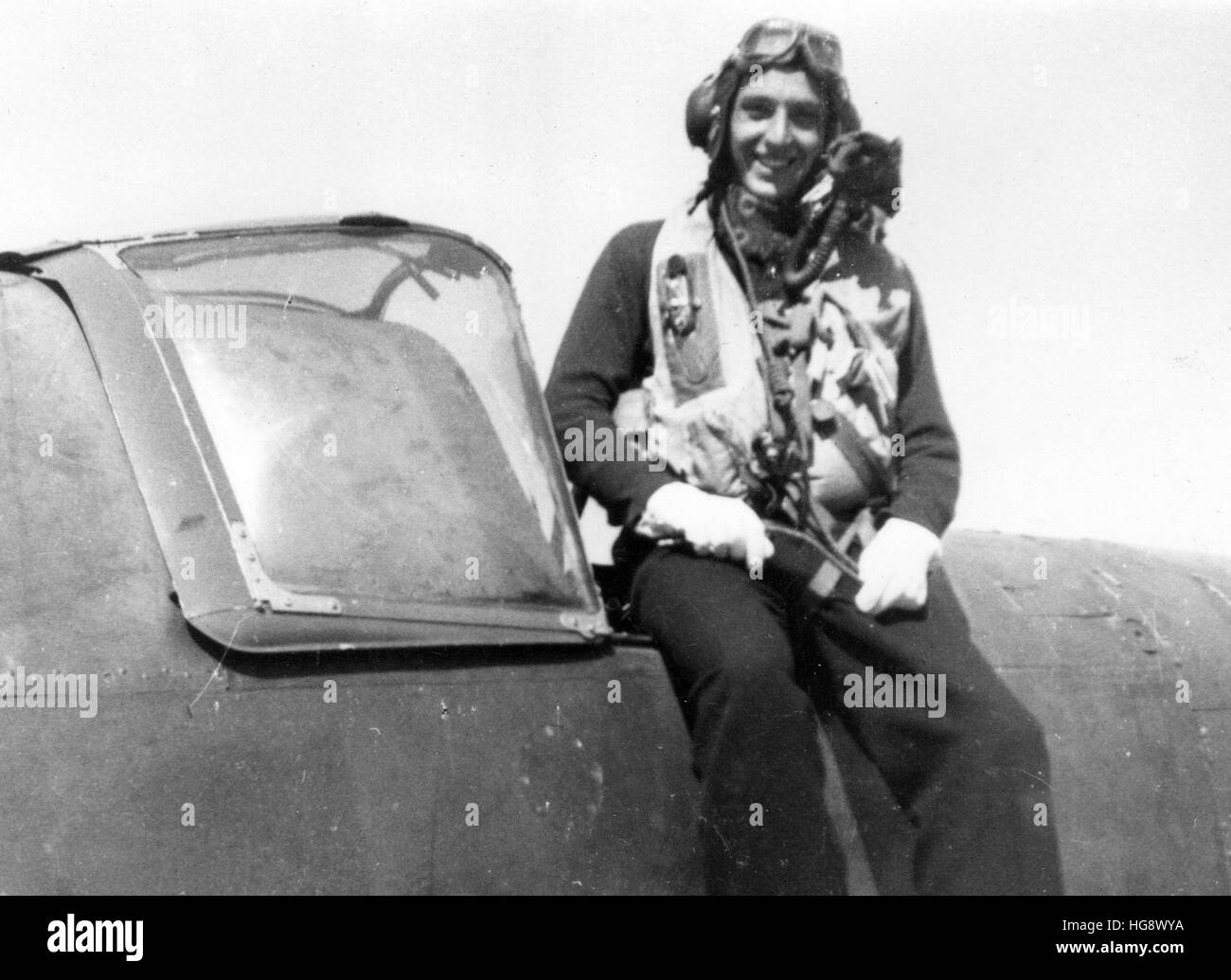 Royal Navy. Fleet Air Arm aviator pilot. WW2 - Stock Image