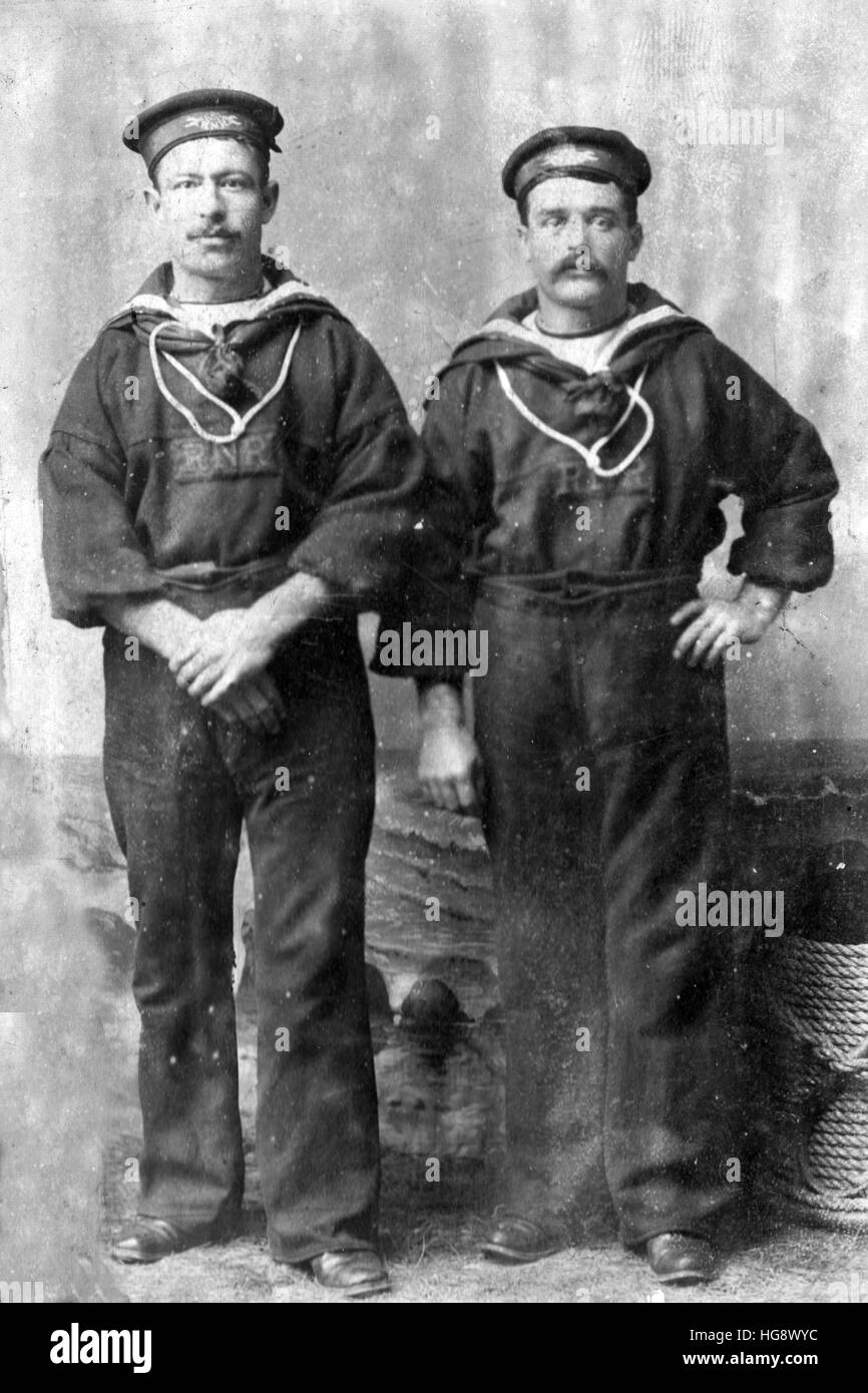 Royal Navy reserve Victorian sailors - Stock Image