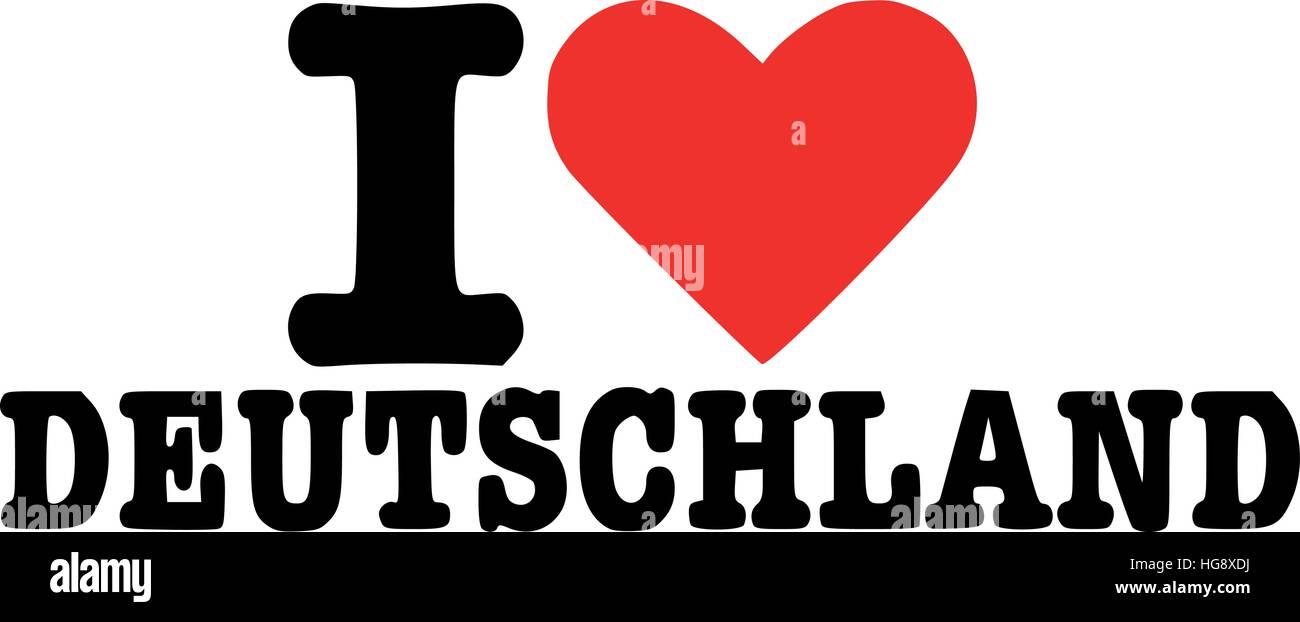 I love deutschland - german - Stock Vector