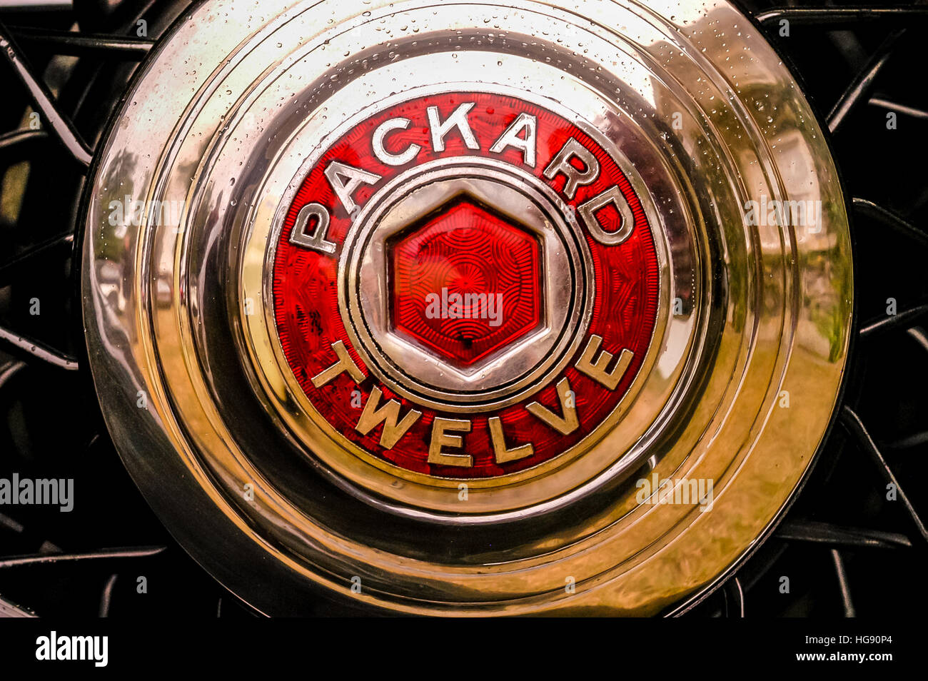 The car marque of Packard Twelve - Stock Image