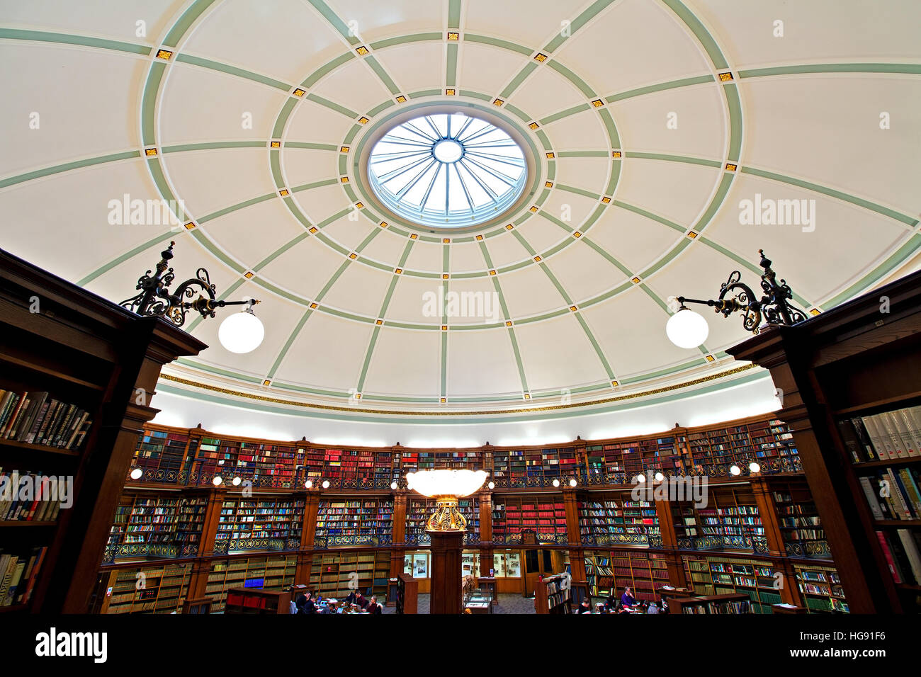 Picton Reading Room inside Liverpool Central Library. LIVERPOOL UK Stock Photo