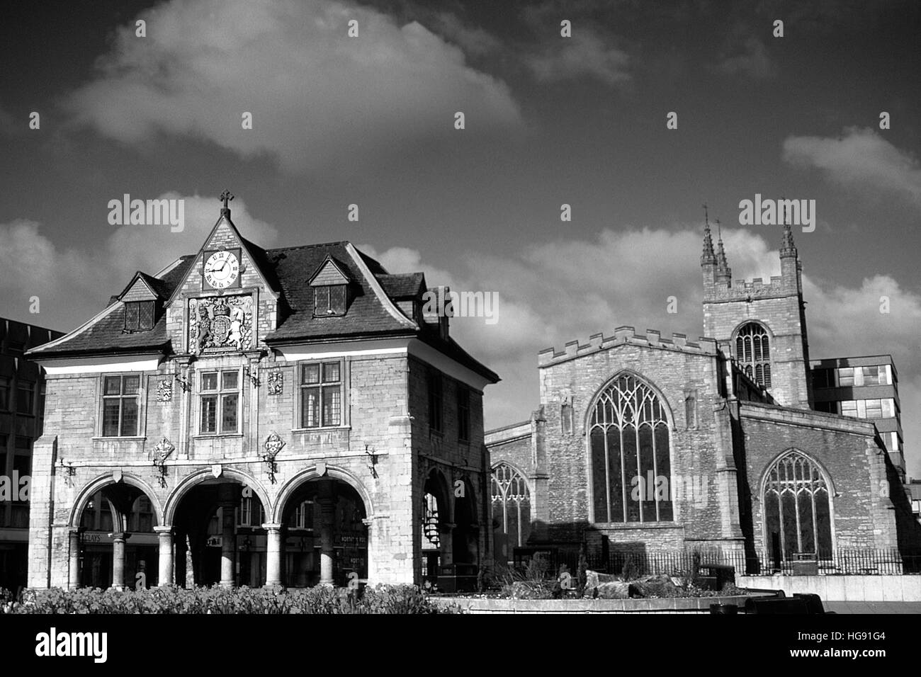The Guildhall, Peterborough City centre, Cambridgeshire. - Stock Image