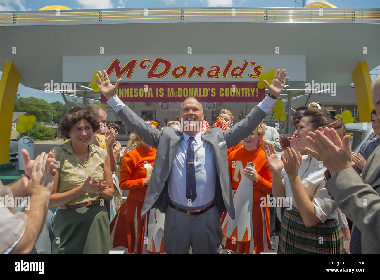 THE FOUNDER 2016 FilmNation Entertainment production with Michael Keaton as Ray Croc - Stock Image