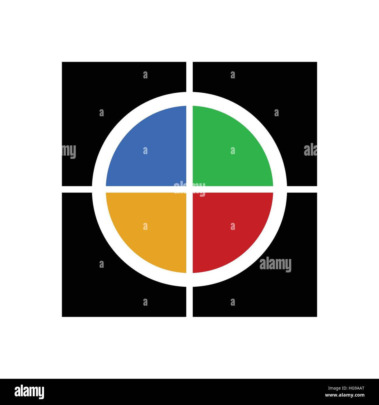 Colorful symbol template for logotypes, icons - Stock Image