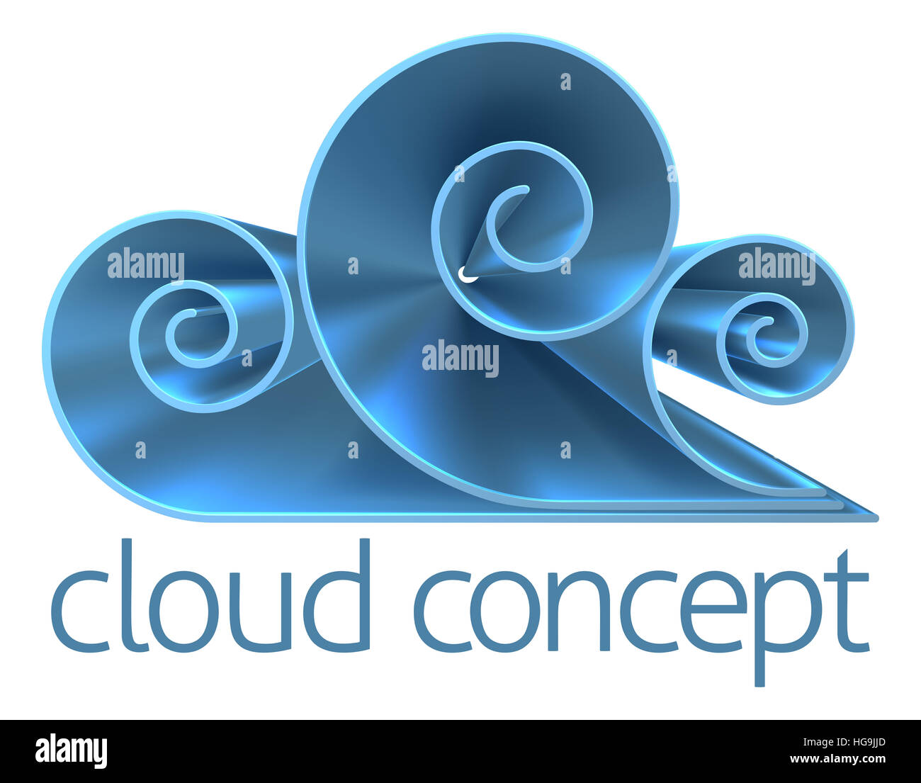 A cloud icon internet concept design element - Stock Image