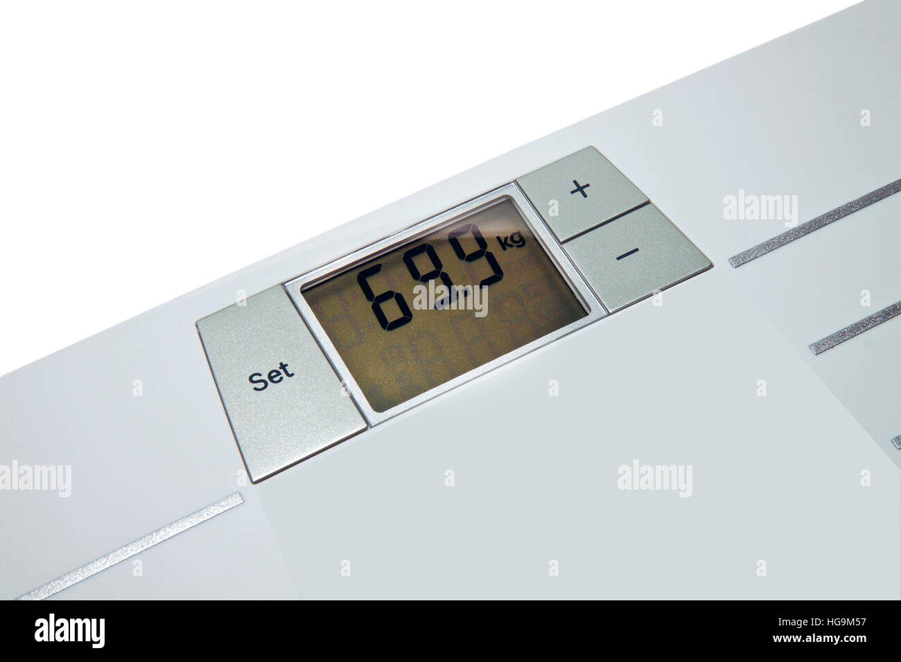 index weight on the scales Stock Photo