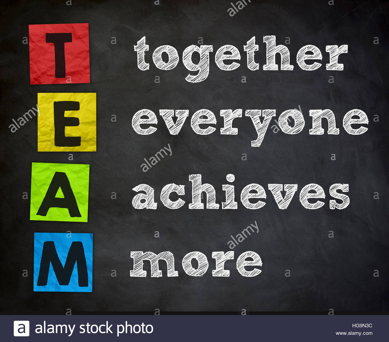 team - together everyone achieves more - Stock Image