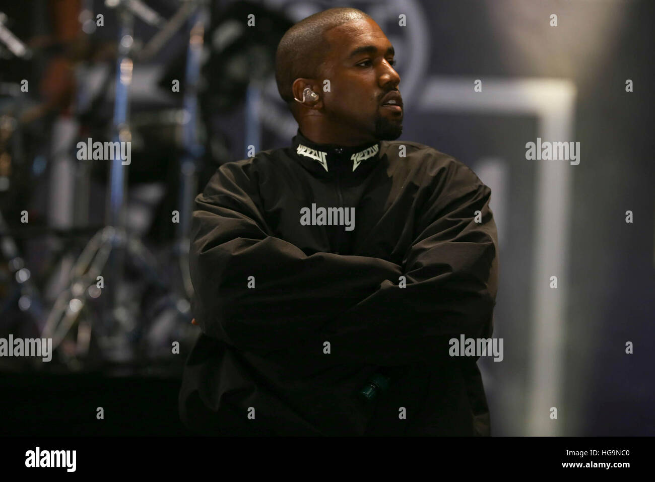 Kanye West and G.O.O.D Music perform at Summerjam 2016 - Stock Image
