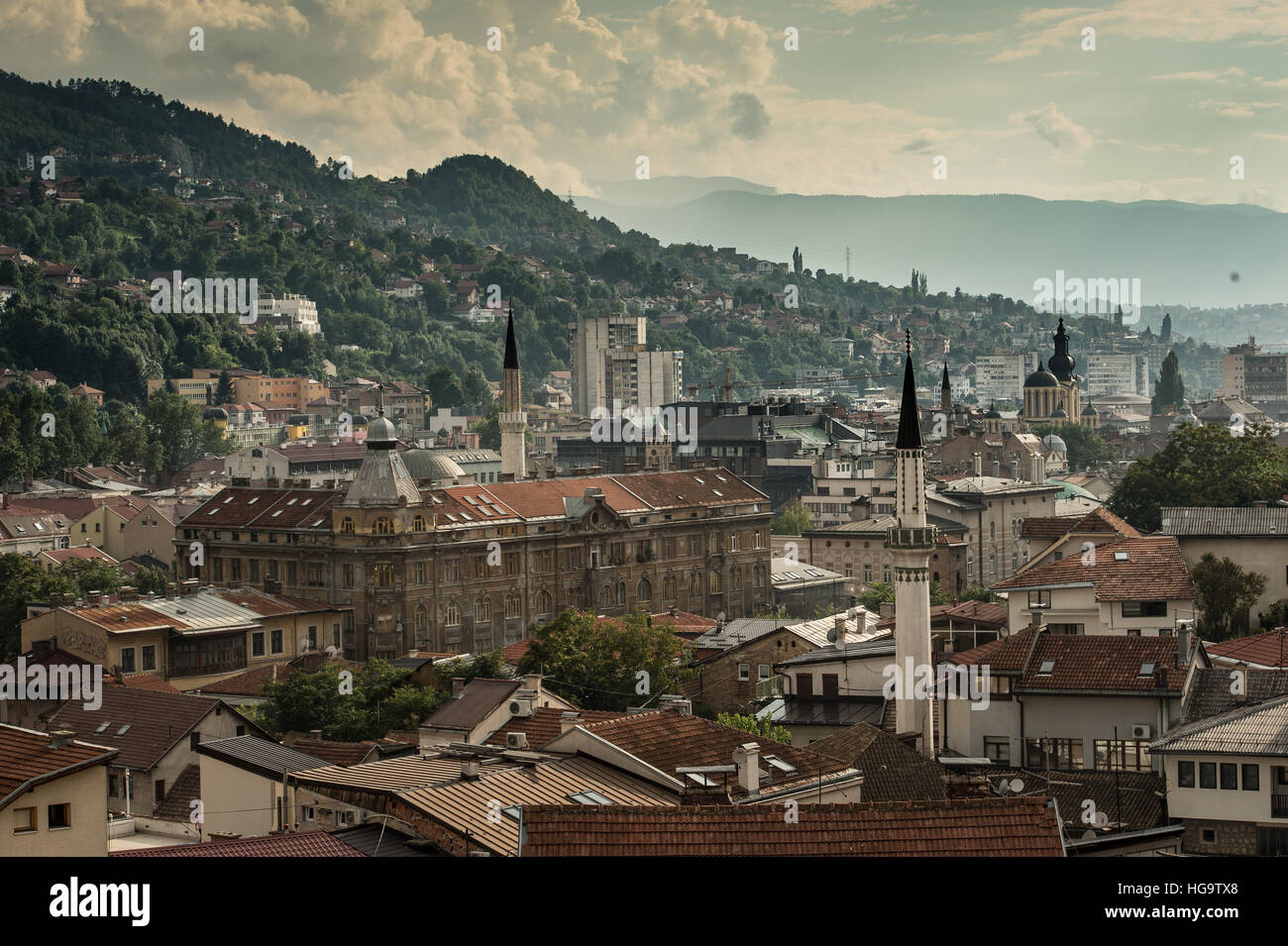 City of Sarajevo; Bosnia and Herzegovina, Balcan, Europe - Stock Image