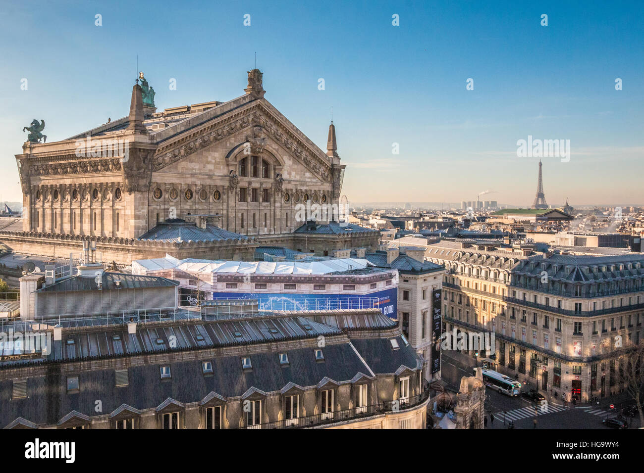 View of Paris Opera - Stock Image