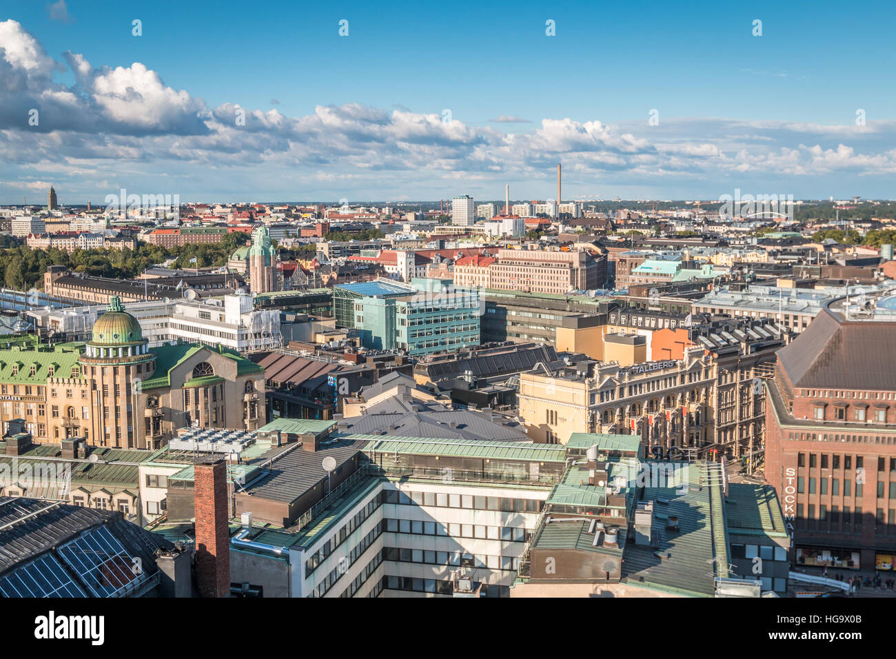 City view of Helsinki in Finland Stock Photo