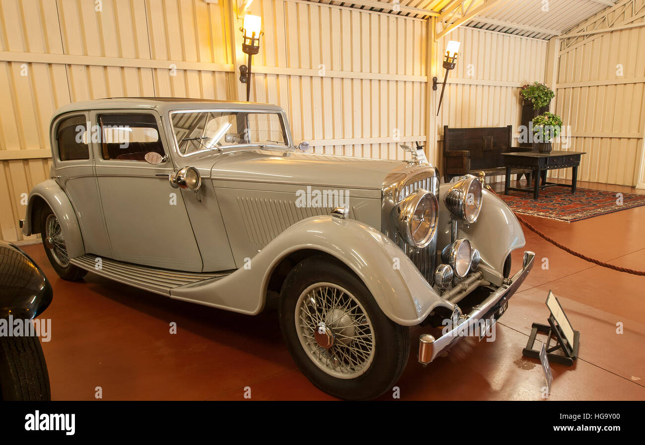 Torre Loizaga antique and classical car museum, the only Rolls-Royce collection with models manufactured between - Stock Image