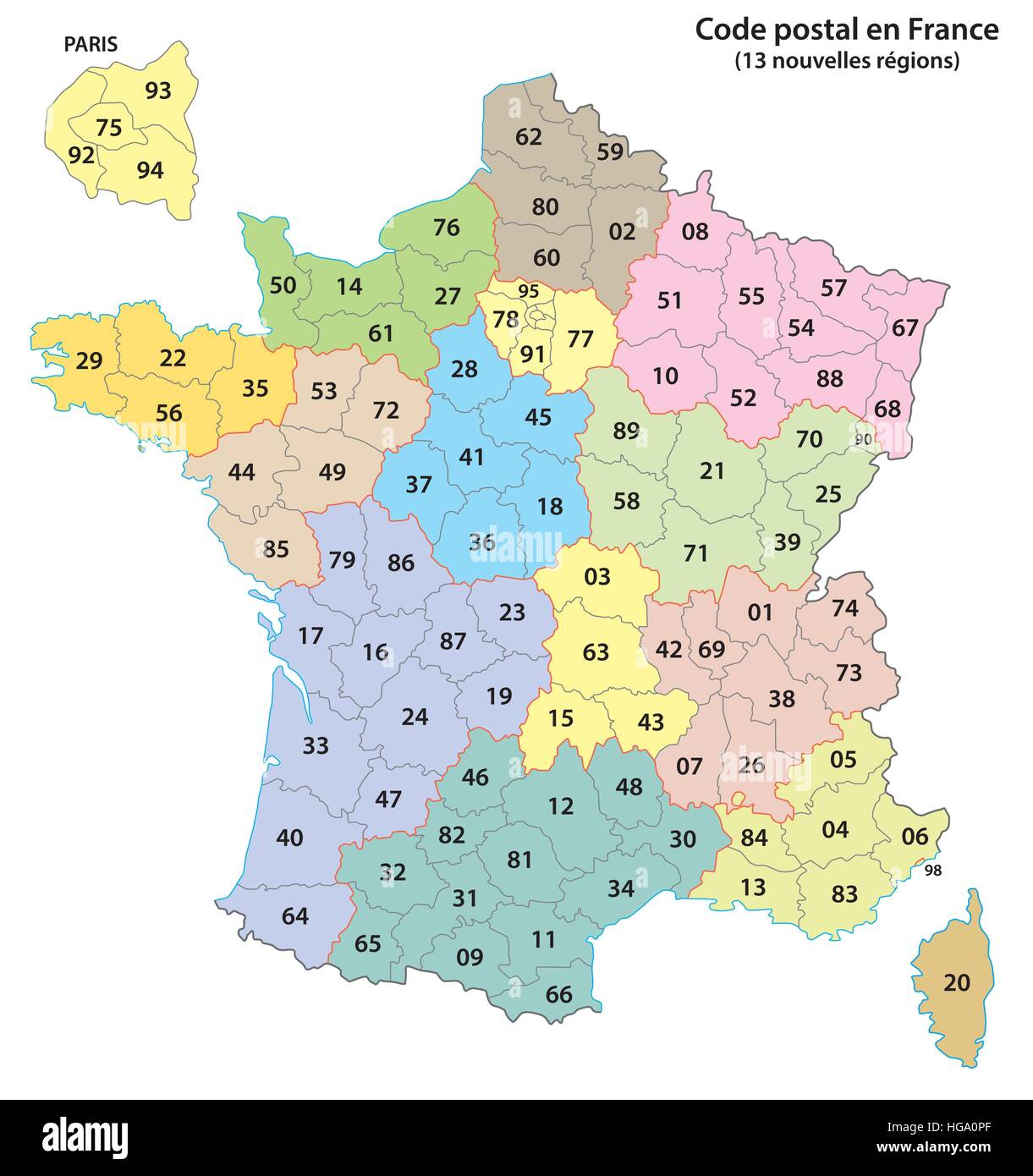 France Map Stock Photos & France Map Stock Images - Alamy