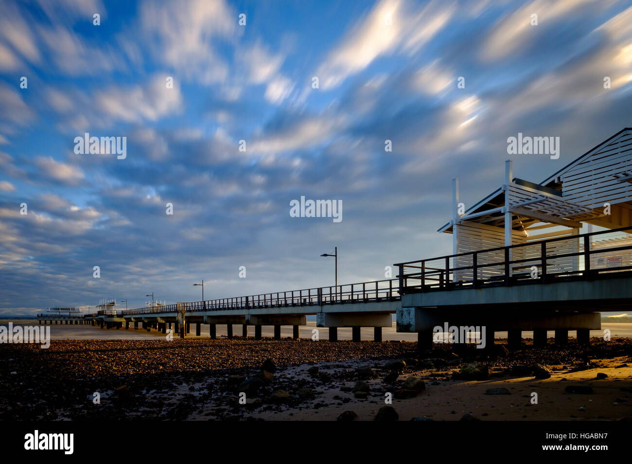 Woody Point Jetty - Stock Image
