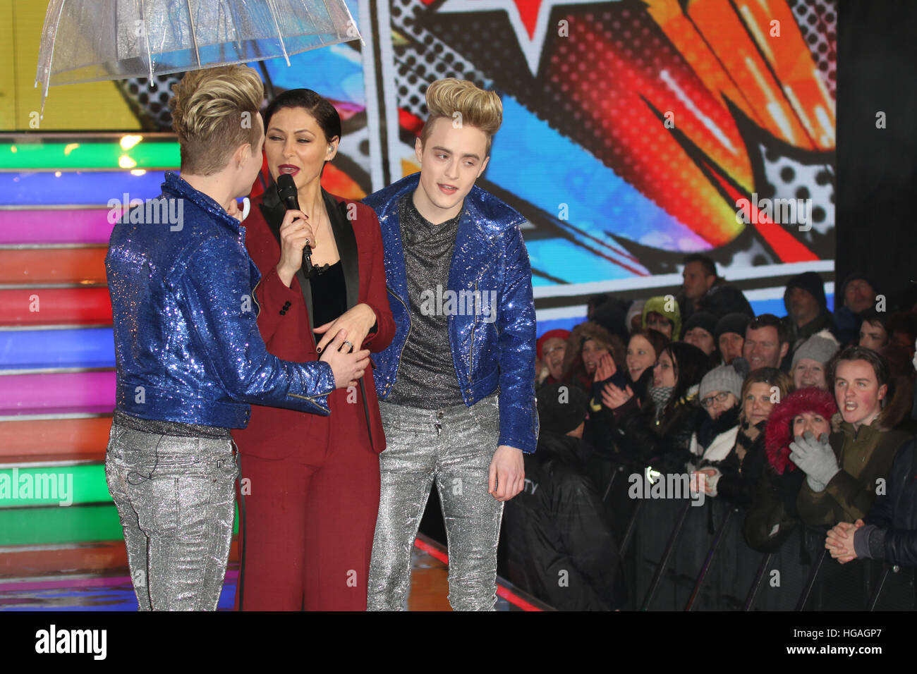 London, UK. 6th Jan, 2017. Jedward arrive as new housemates in this years Celebrity Big Brother. © David Johnson/Alamy - Stock Image